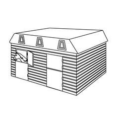 The stable building at the racetrack stable room vector