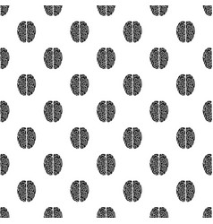 top view brain pattern seamless vector image
