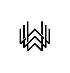 triple w monogram www letter hipster lettermark vector image