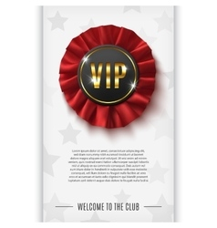 Vip background with realistic award ribbon vector