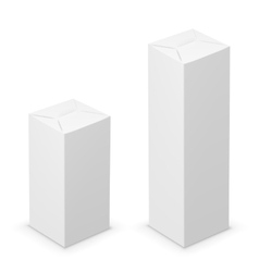 white tall box vector image