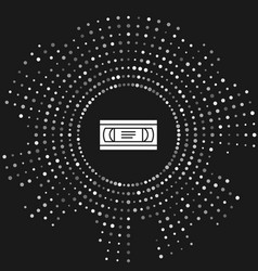 White vhs video cassette tape icon isolated on vector