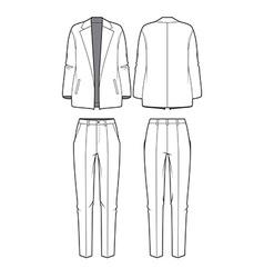 Womens blazer and pants vector