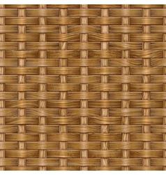 wooden basket weaving vector image