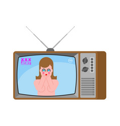 Xxx news old tv adult channel woman broadcasting vector