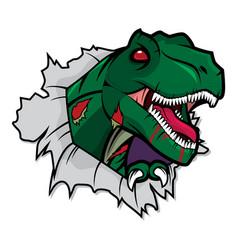 Zombie t- rex vector