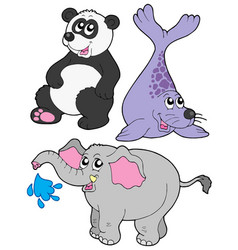 Zoo animals collection 3 vector