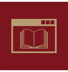 Online education icon design education vector