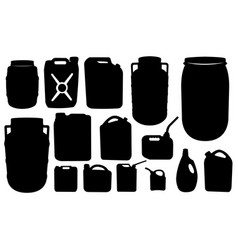 set of barrels and canisters vector image