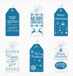 set of christmas label christmas tag new vector image