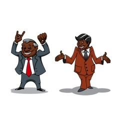 Successful cartoon businessman and manager vector