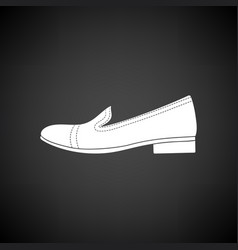 Woman low heel shoe icon vector
