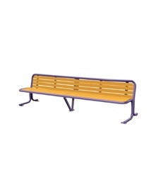 Wooden detailed bench vector image