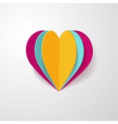 3d paper heart vector image