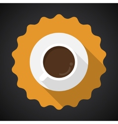 Coffee Cup Flat Icon with long shadow vector image vector image