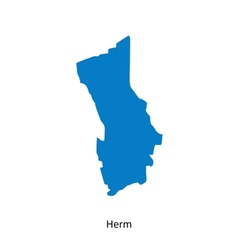Detailed map of Herm vector image vector image