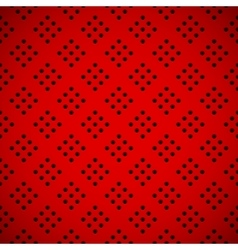 Red Background with Perforated Pattern vector image