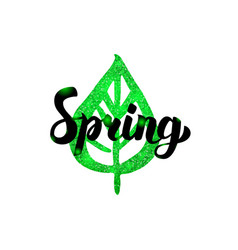 Spring green inscription vector