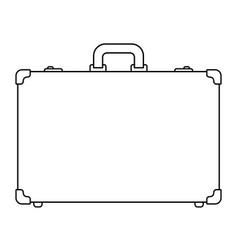 suitcase contour icon vector image vector image