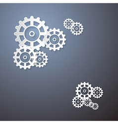 Abstract Cogs Wheels Paper Background vector image vector image