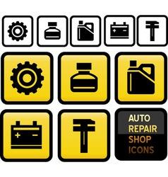 auto repair shop icons vector image vector image