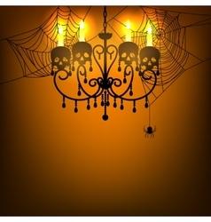 chandelier and spiderweb vector image