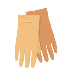 Leather gloves in flat design vector