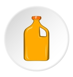 Packaging for engine oil icon cartoon style vector image