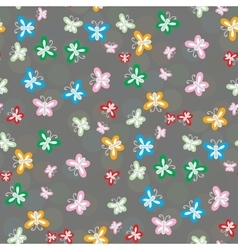 Seamless pattern of colorful butterflies vector image vector image