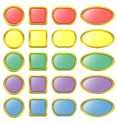 Set of colored web buttons vector image vector image