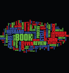 The chaos cycle book review text background word vector