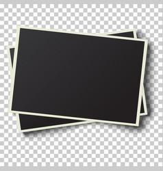 Two realistic retro photo frames vector