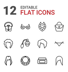 12 glamour icons vector
