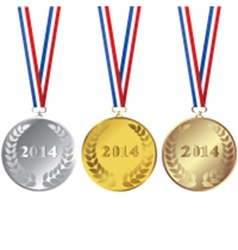 2014 Medals vector image
