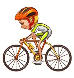 A sketch of a cyclist vector image