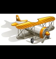 A vintage orange and gray coloured plane vector