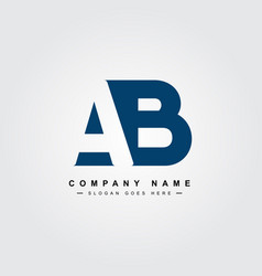 Ab initial letter logo - simple business logo vector