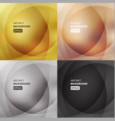 abstract light backgrounds set vector image vector image