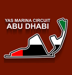 Abu dhabi grand prix race track for formula 1 vector