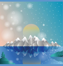 alps card winter vector image