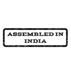 Assembled in india watermark stamp vector