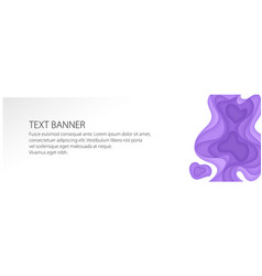 Banner with purple gradient shapes vector