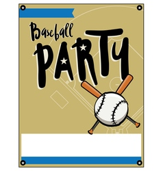 Baseball Party Flyer vector image