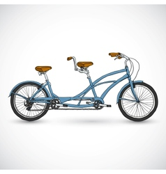 Bicycle in doodle style vector