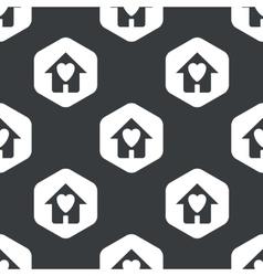 Black hexagon beloved house pattern vector