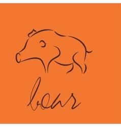 boar symbol icon vector image