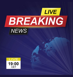 breaking news background vector image