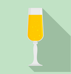 bubble champagne glass icon flat style vector image