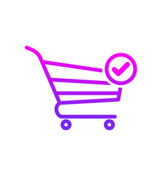 buy cart check shop store icon vector image