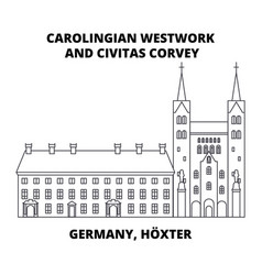 Carolingian westwork and civitas corvey germany vector